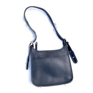 COACH Vintage Black Shoulder Bag Adjustable Purse